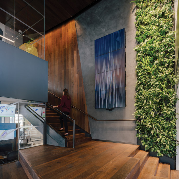 The Delos Living LLC headquarters is meeting rigorous health and sustainability goals