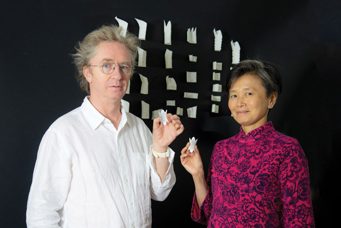Mike Tonkin and Anna Liu, with their new windpipe stent device