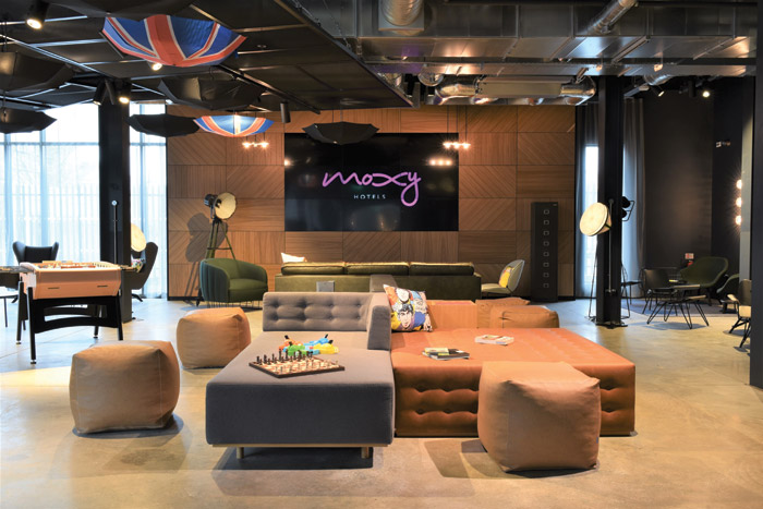 Moxy is a new budget-boutique brand designed for travellers looking for a fun hotel with a coherent experience but with a touch of luxury too
