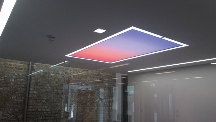 The sunset/sunrise setting option in a meeting room panel