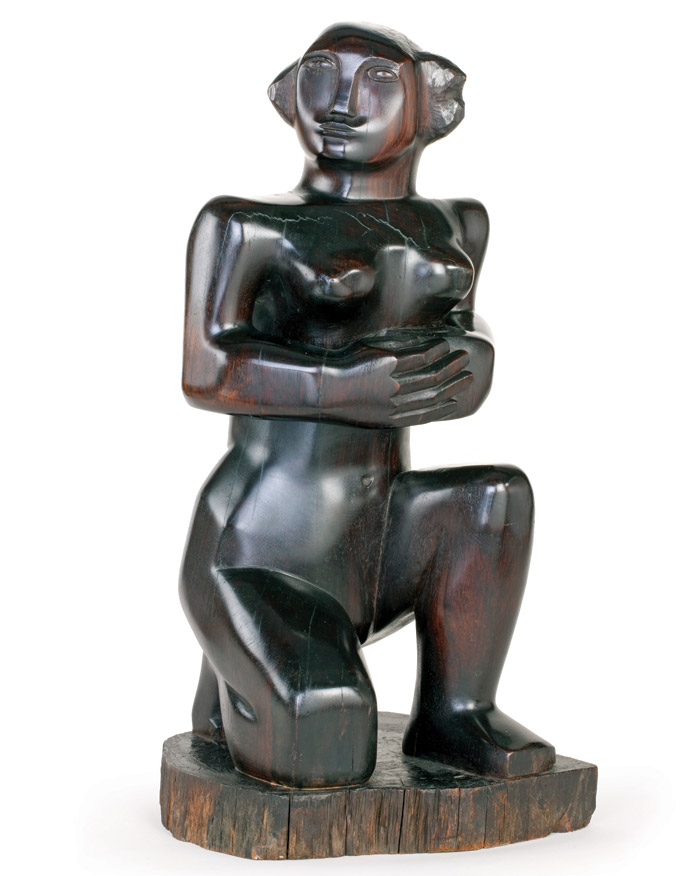 Image Credit: Barbara Hepworth, Kneeling Figure, 1932 Rosewood / © Bowness