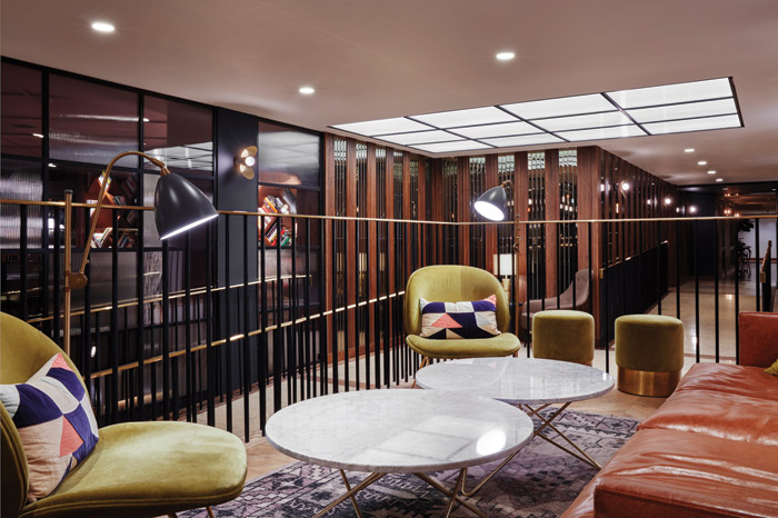 Michaelis Boyd was commissioned to overhaul the public spaces in the Marylebone Hotel in London to create a more hybrid environment. Image Credit: Ed Reeve