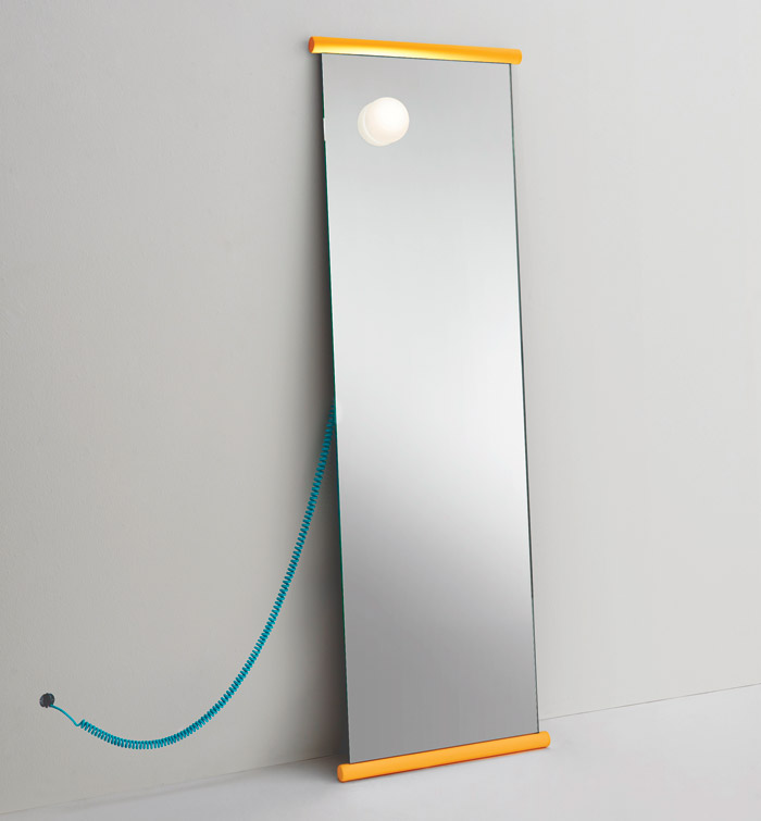 Ecco floor-standing mirror (2018) with ultra lightweight glass, by Barber Osgerby