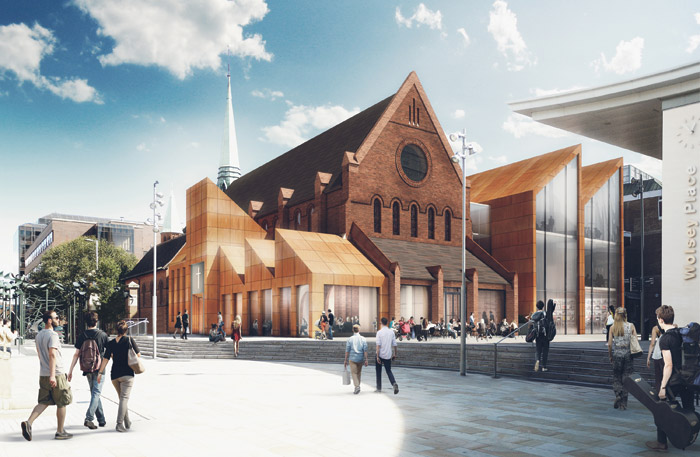 CGIs of Fathom Architects' scheme for the Christ Church project in Woking