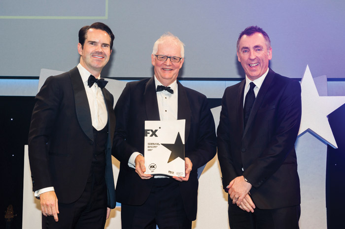 He received the FX Outstanding Lifetime Contribution Award last year, with comedian Jimmy Carr making the presentation
