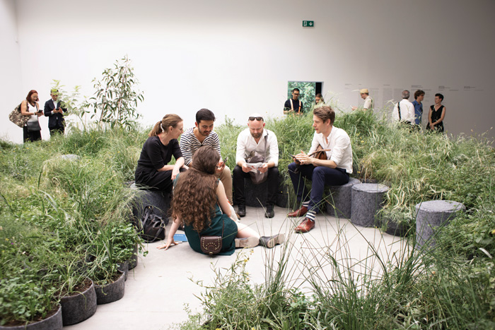 Much was made of very little in Australia's striking, modern pavilion filled with endangered grasses