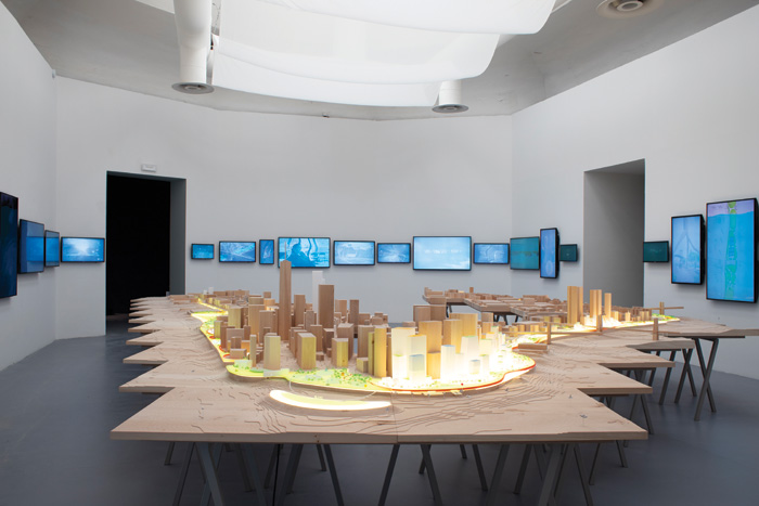 In the Central Pavilion Bjarke Ingels Group shows its Manhattan floodwater resistance project