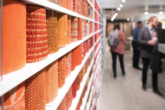 A variety of textile hues debuted at NeoCon 2018