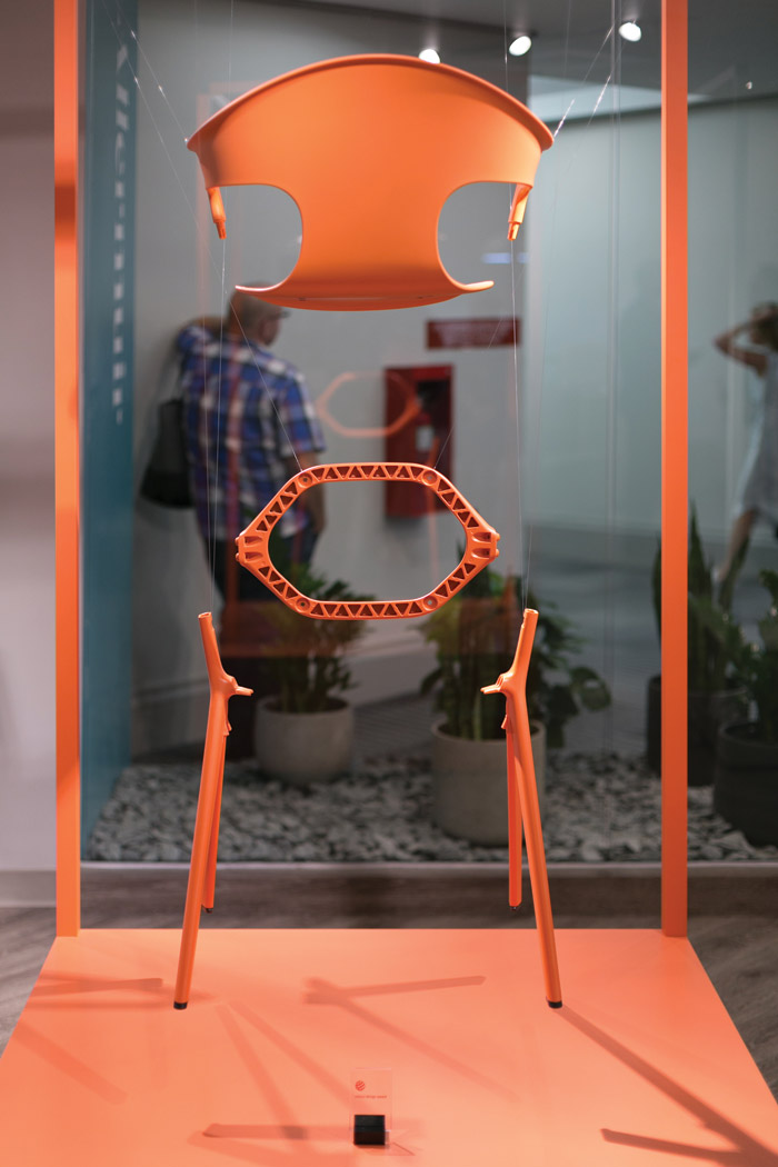 Allermuir launched its Axyl chair, its first collaboration with Benjamin Hubert