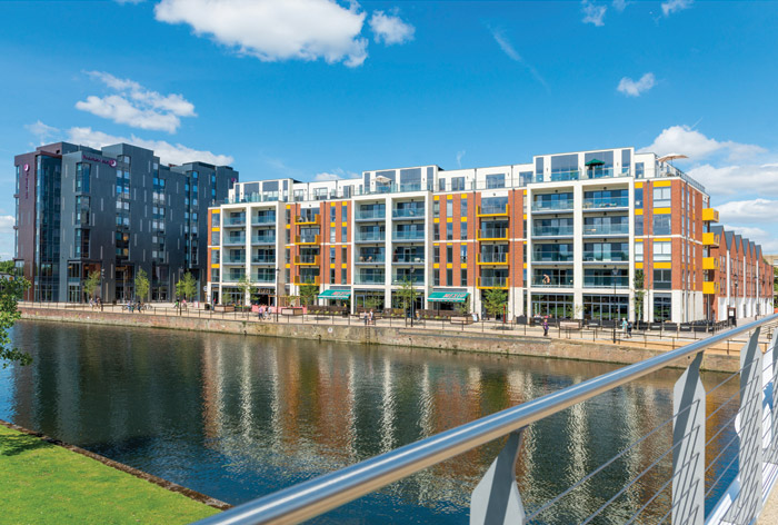 Riverfront living and shopping in Bedford's new development