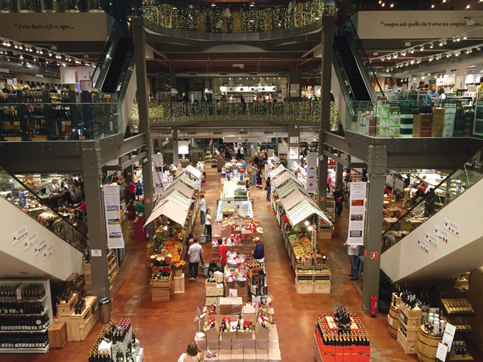 Eataly, founded in Italy in 2007 and now with more than 40 outlets worldwide, disrupts the stale, static supermarket formula with a flavour of the traditional market