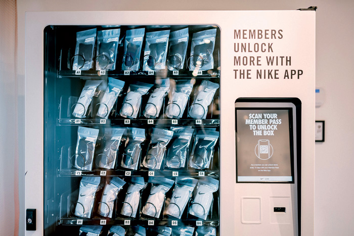 Nike Live, a new concept store for Nike on LA's Melrose Avenue, features a free vending machine for app users and an in-store Sneaker Bar