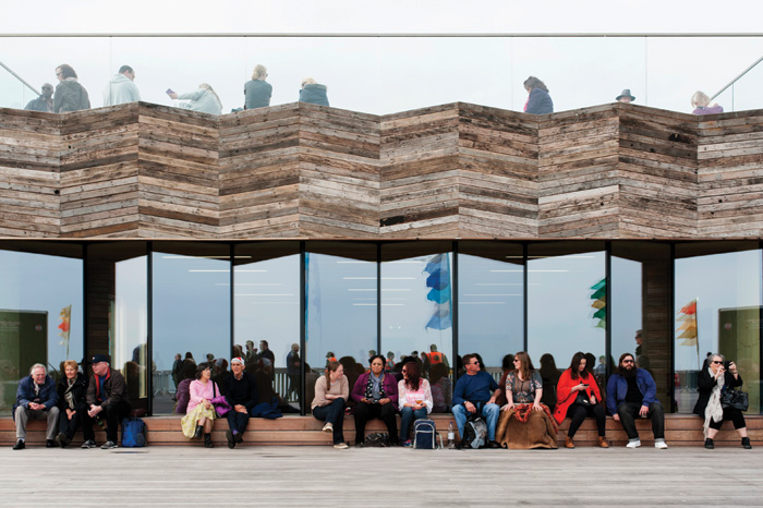 Seven years of dRMM working with the community on rebuilding Hastings Pier culminated in it winning last year's Stirling Prize. Image Credit: James Robert Shaw
