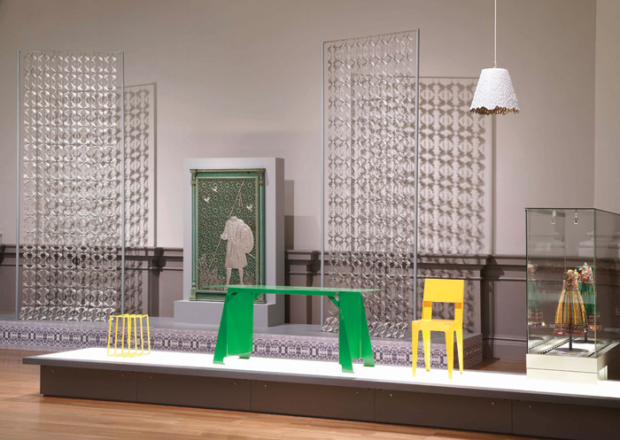 The work by Pakistani artist Adeela Suleman on display at the Manchester Art Gallery
