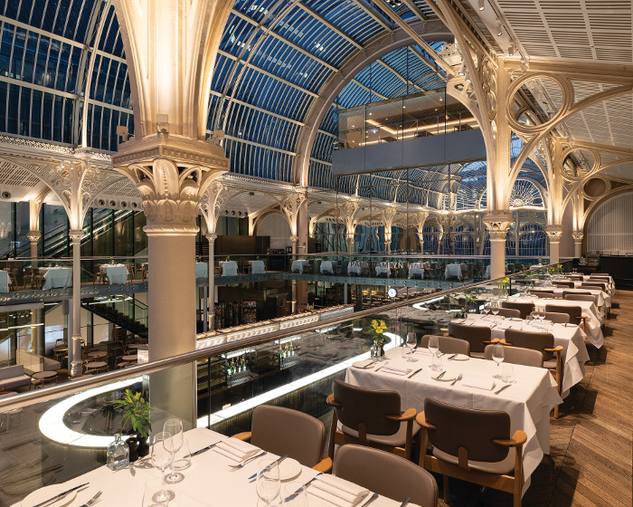The Royal Opera House had to balance natural and artificial lighting to help opera goers, restaurant guests and casual visitors appreciate the spaces, forms and materials