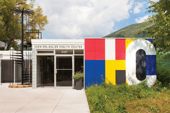 The Aspen Meadows resort was designed by Bayer in the Bauhaus style