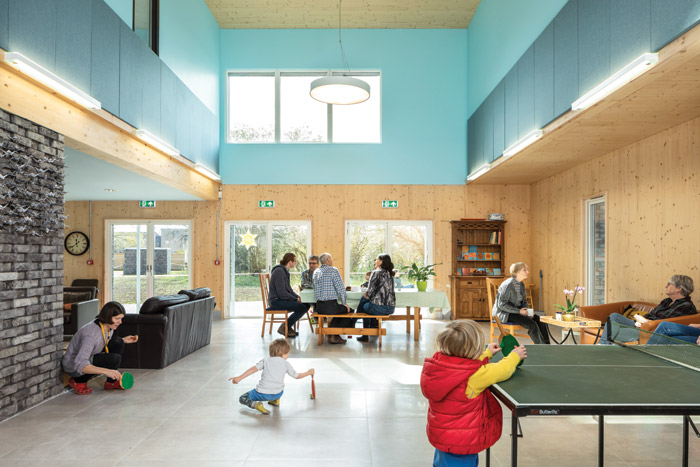 Communal spaces are a key component of the Marmalade Lane development