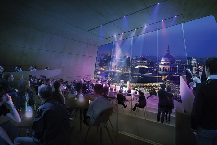 St Paul's Cathedral will be visible from the top of the building