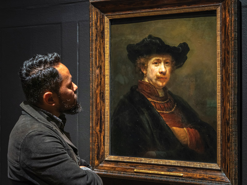 A new showcase of Rembrandt's art focuses on how he used light in his work (even when painting a selfie)