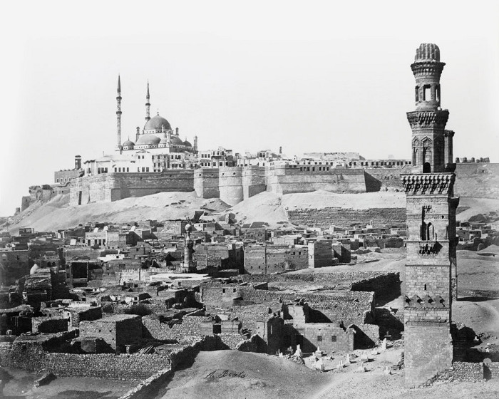 The citadel and tombs in Cairo in the late 1880s