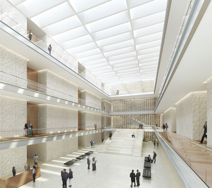New National Cancer Institute in Giza by SOM. Image credit: SOM / KX–L.