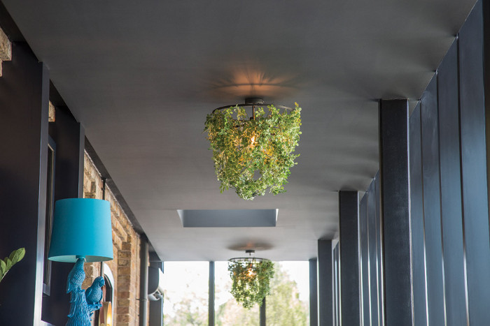 A faux-leaf-wrapped lampshade from DI CLASSE