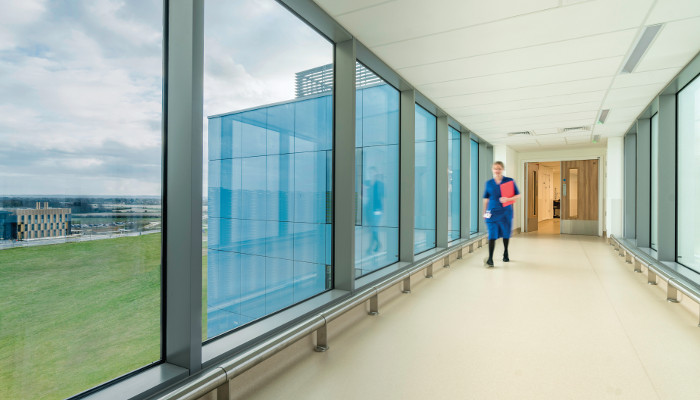A nurse said that floor-to-ceiling glazing makes a big difference on long shifts. Image credit: CHRIS ANSELL.