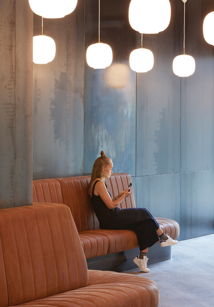 Co-working space provider Fora is developing technology that can help sustainability as well as productivity, such as intelligent sensors that switch off lights after two or three minutes rather than 15 or 30. Image cedit: Hufton + Crow.