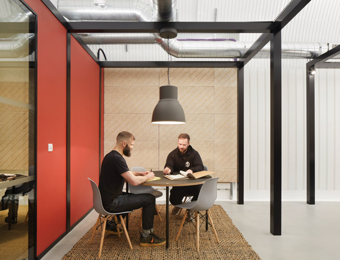 ID:SR and Monmouth collaborated on the offfice and meeting room spaces