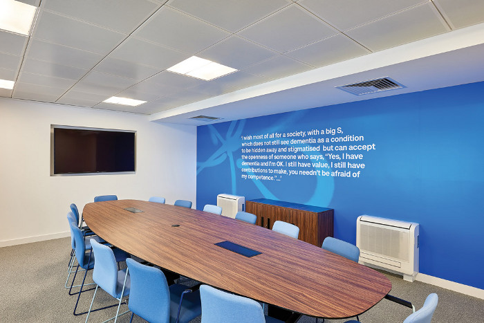 The building has three meeting rooms, plus three break-out areas and flexible working zones