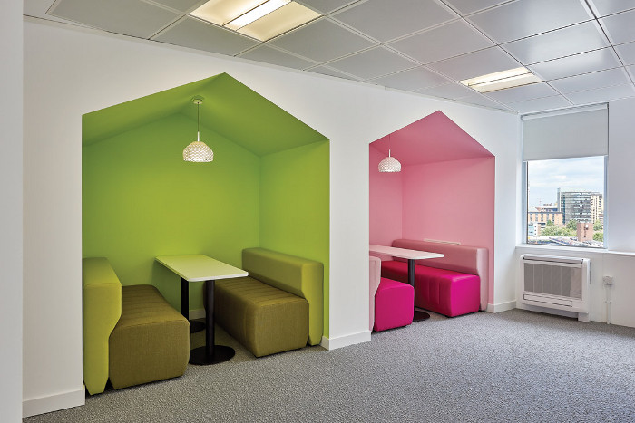 Colour and contrast play a huge role in the development of positive interior environments for dementia sufferers