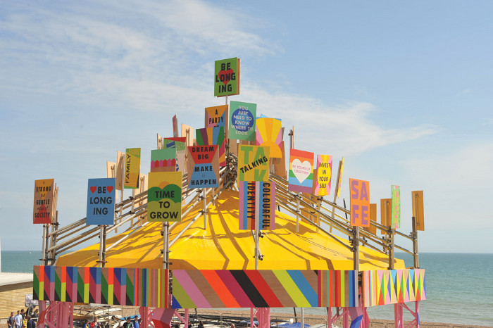 The Belonging Bandstand in Brighton. Image credit: Morag Myerscough.