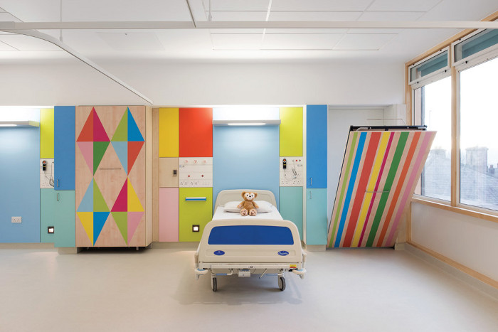 For Sheffield's children's hospital the staff initially balked at the multicoloured designs. Image credit: Jill Tate.