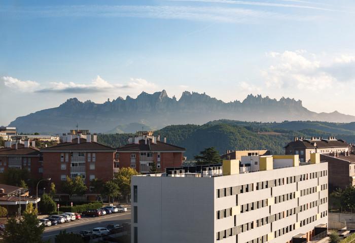 Catalonia's Montserrat mountain range provided inspiration for the interior