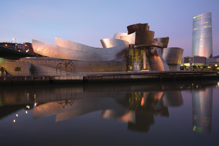 Frank Gehry's radical Guggenheim Museum Bilbao. Image Credit: Georges Jansoone