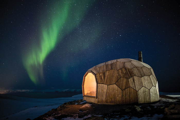 Spinn Arkitekter's The Hammerfest Cabin is a finalist in the Sustainable Surface Exterior awards category