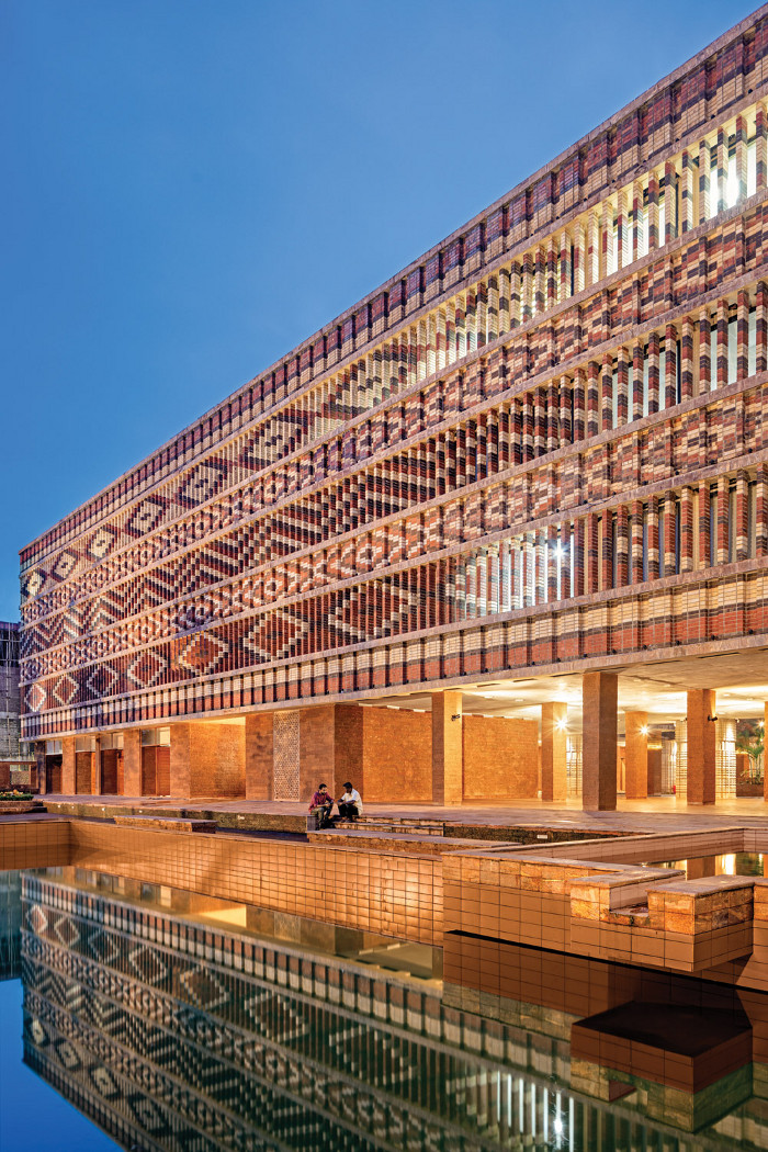 Shortlisted in both the Public Building Interior and Exterior categories, the Krushi Bhawan project by Studio Lotus is a modern government building in the Indian city of Bhubaneshwar