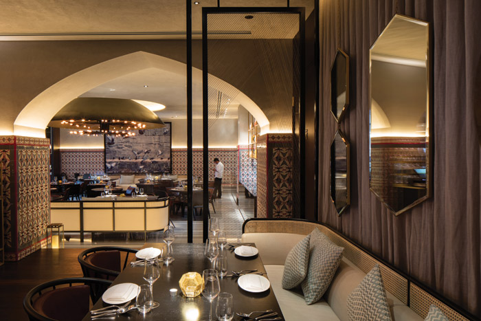 The first of the Ruya restaurants opened on the Dubai Marina in 2016. Norden describes the interiors as having 'a richness to them'. Credit: Luke Hayes
