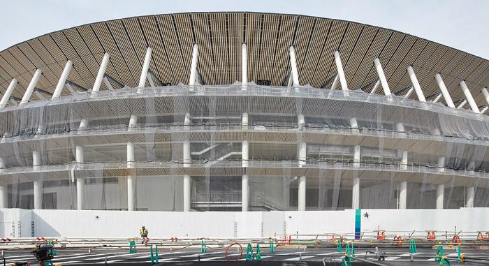 Kengo Kuma's stadium is a timber design