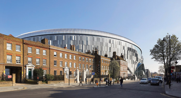Jump Studio's Liam Doyle describes the new stadium as a 'catalyst for change' for the north London area of Tottenham. Credit: Hufton + Crow