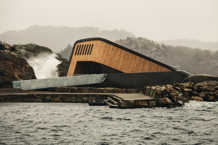 Thick concrete walls enable the structure to withstand whatever the sea can throw at it