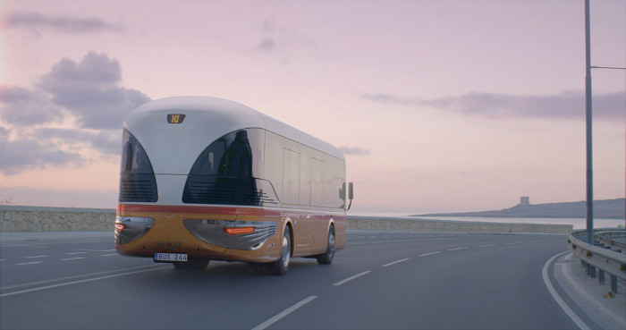 Mizzi's proposal for a fleet of electric buses in Malta is in the conceptual phase. Image credit: Stargate Studios / Mizzi Studio.