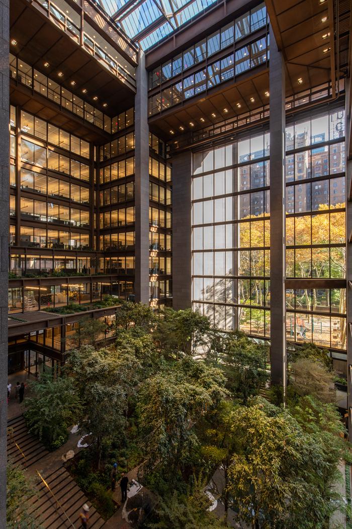 The atrium garden found at the Ford Foundation. Image Credit: Simon Luethi