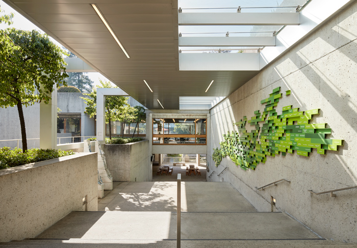 The Oakland Museum of California was conceived as a walled garden. The planting as hoped, growing over the entire building. Image Credit: Matthew Millman Photography