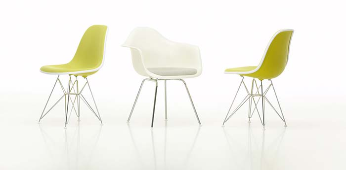 … and the Eames DSW chair, which 'still looks contemporary'