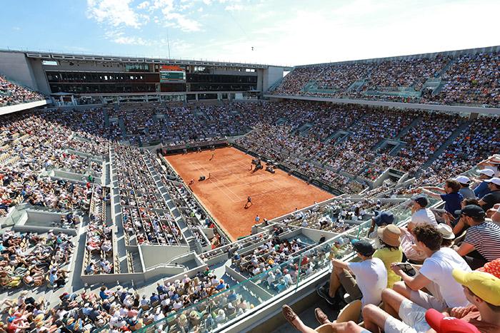 Court Philippe-Chatrier, Roland Garros, Paris. Image Credit: Cedric Lecocq / FFT