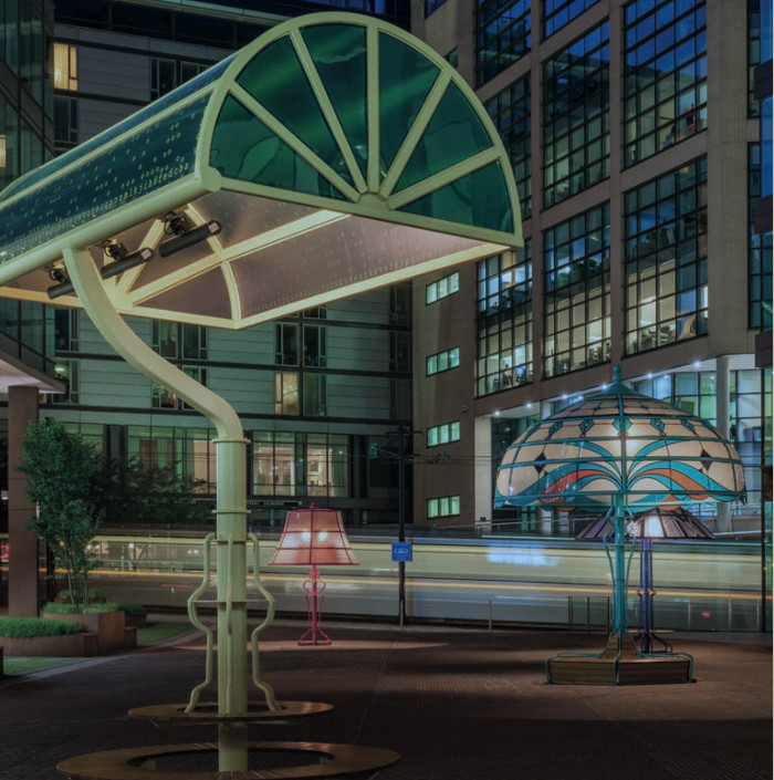 The Manchester Lamps project, where giant lamps transformed a previously unloved urban area in the city centre into a vibrant social space