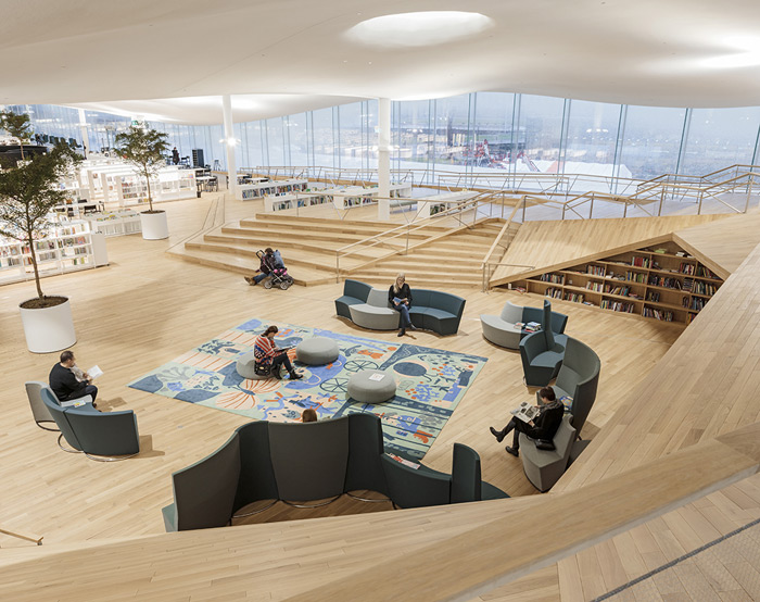 The Oodi Library is a space for books and creativity