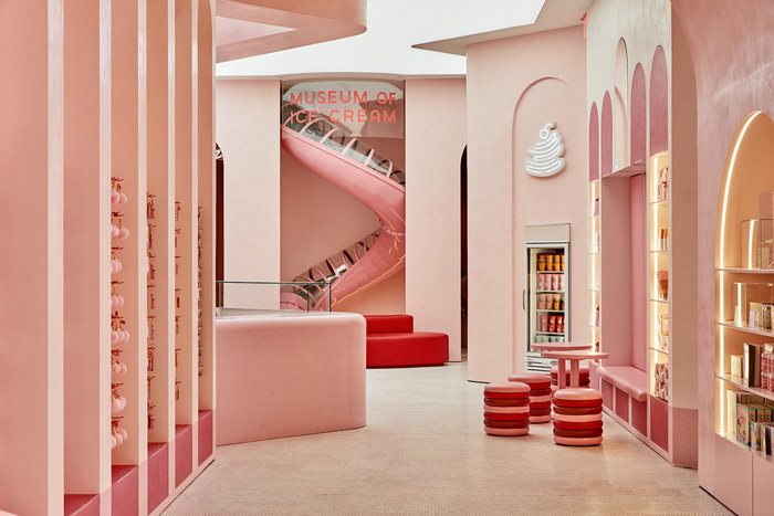 The Museum of Ice Cream, New York The Museum of Ice Cream, an interactive art exhibit or 'experium' in New York and San Franscisco, has been designed to appeal to selfie-takers, with the experience revolving around creating the perfect shot for Instagram. Visual identity The Working Assembly