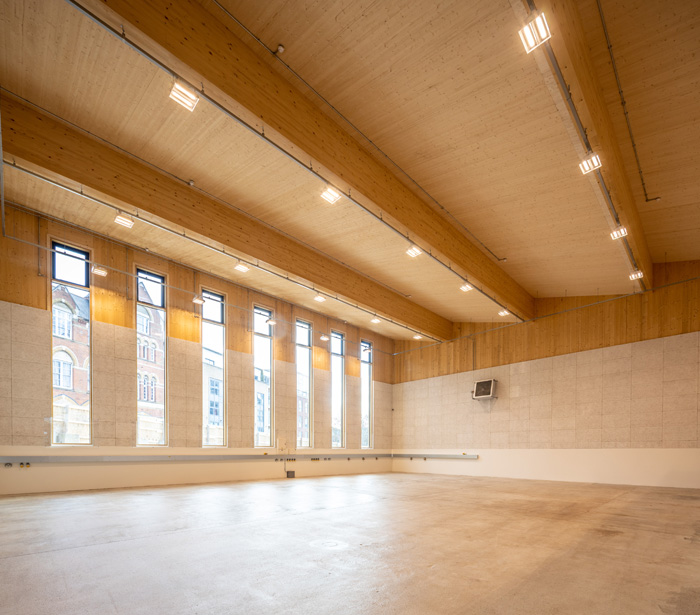 Bennetts Associates' first completed all-timber and 'near zero-carbon' building Image Credit: John Sturrock